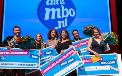 Winnaars tijdens het mbo ambassadeursgala