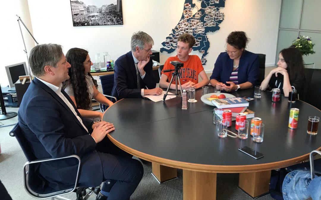 Maas Geesteranusprijs & slobcast met Minister Arie Slob en vmbo-kampioenen