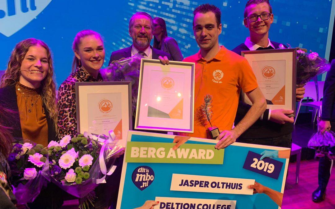 Jasper Olthuis wint WorldSkills Netherlands Berg Award 2019