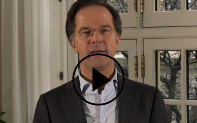 Videoboodschap minister-president